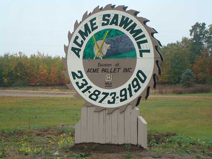 Acme Sawmill Sign